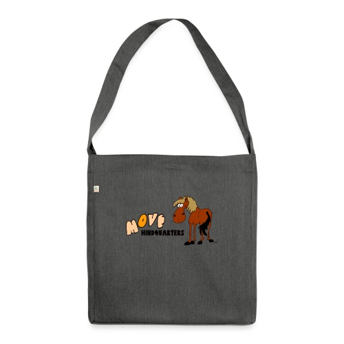 move hindquarters - Schultertasche aus Recycling-Material