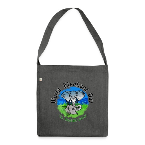 World Elephant Day 2018 - Schultertasche aus Recycling-Material