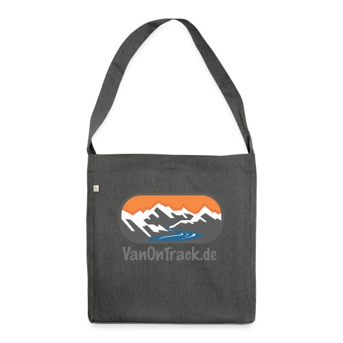 VanOnTrack Logo Berge, See und Freihet - Schultertasche aus Recycling-Material