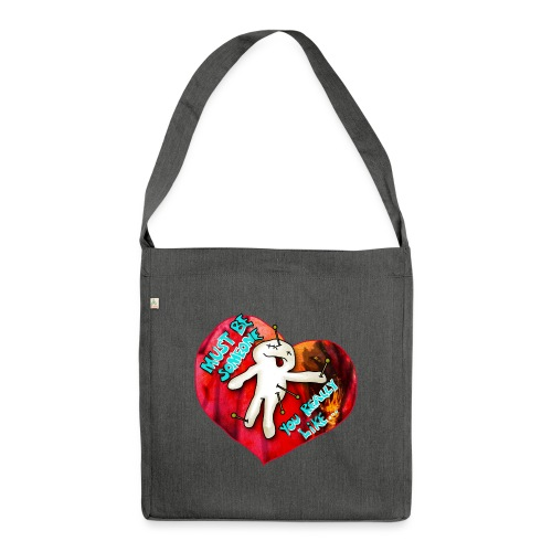 Be my Valentine - Schultertasche aus Recycling-Material