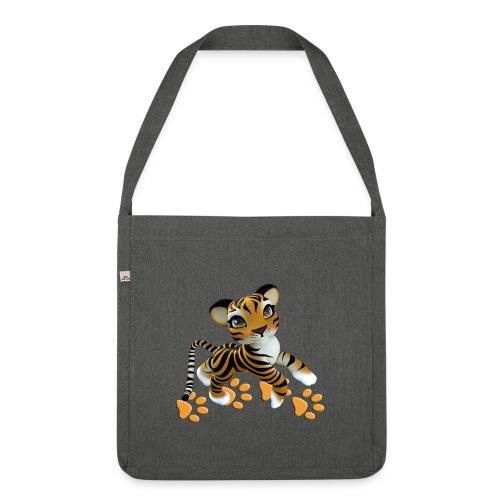Kleiner Tiger - Schultertasche aus Recycling-Material