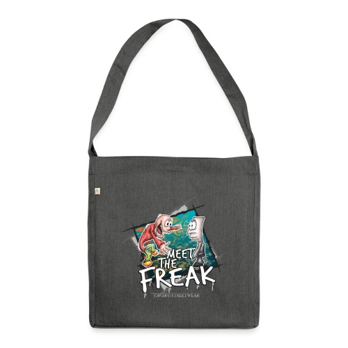 meet the freak - Schultertasche aus Recycling-Material