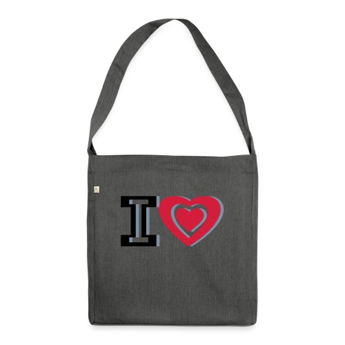 I LOVE I HEART - Shoulder Bag made from recycled material
