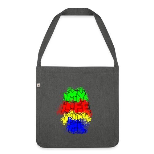 Den Officielle My Life With Minecraft Logo - Skuldertaske af recycling-material