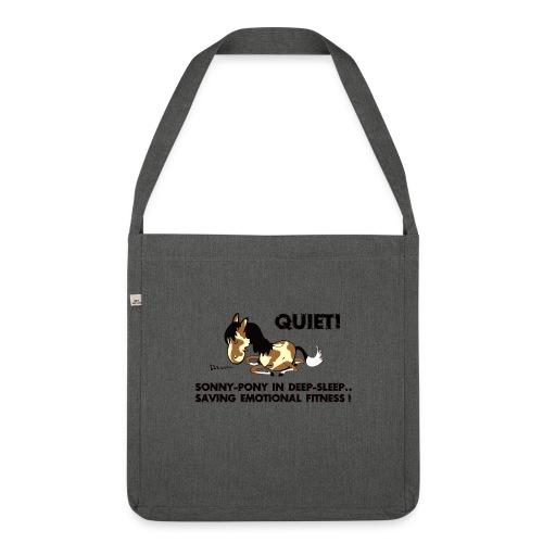 QUIET Sonny Pony in deep sleep - Schultertasche aus Recycling-Material