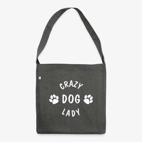 crazy dog lady - Schultertasche aus Recycling-Material