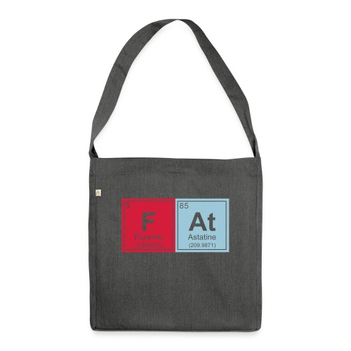 Geeky Fat Periodic Elements - Shoulder Bag made from recycled material