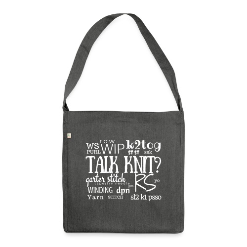 Talk Knit ?, white - Shoulder Bag made from recycled material