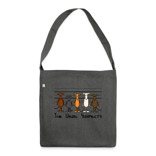 The usual suspects - Schultertasche aus Recycling-Material
