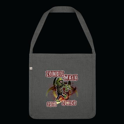 shirt zombie walk3 - Schultertasche aus Recycling-Material