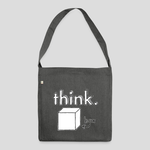Think Outside The Box Illustration - Shoulder Bag made from recycled material