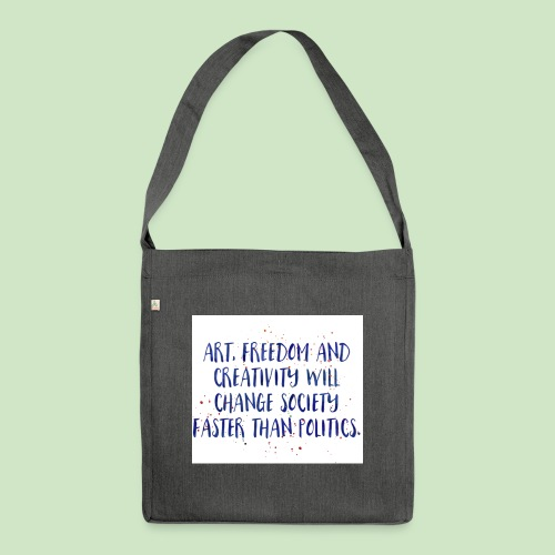 Art Quote - Schultertasche aus Recycling-Material