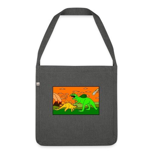 Schneckosaurier von dodocomics - Schultertasche aus Recycling-Material