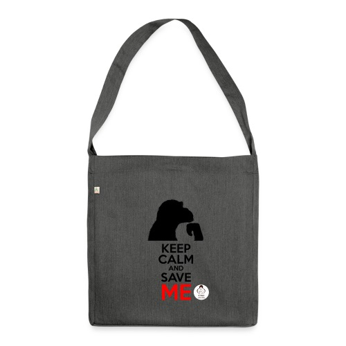 design_keep calm - Sac bandoulière 100 % recyclé