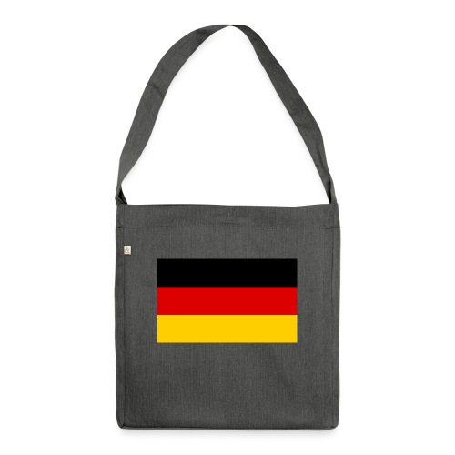 2000px Flag of Germany svg - Schultertasche aus Recycling-Material