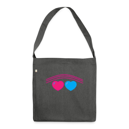 Das Design mit Herz - Schultertasche aus Recycling-Material