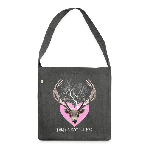 HERT roze voor tas - Shoulder Bag made from recycled material