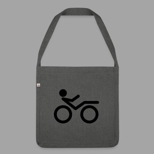 Recumbent bike black 2 - Olkalaukku kierrätysmateriaalista