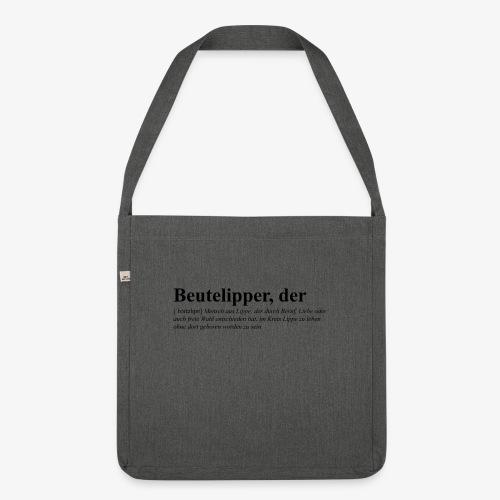 Beutelipper - Wörterbuch - Schultertasche aus Recycling-Material
