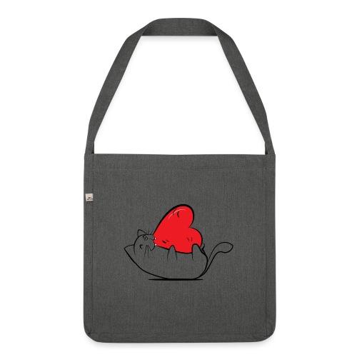 Cat Love - Schoudertas van gerecycled materiaal