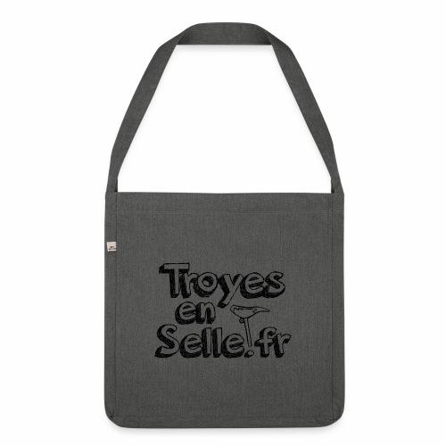 logo Troyes en Selle noir - Sac bandoulière 100 % recyclé