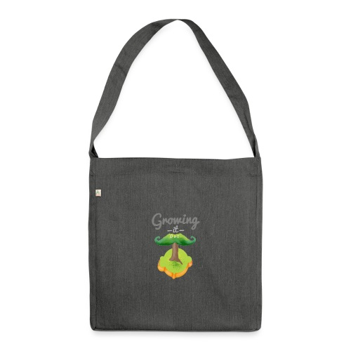 Moustache tree - Shoulder Bag made from recycled material