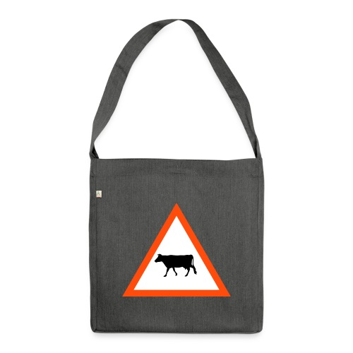 kuh-crossing - Schultertasche aus Recycling-Material