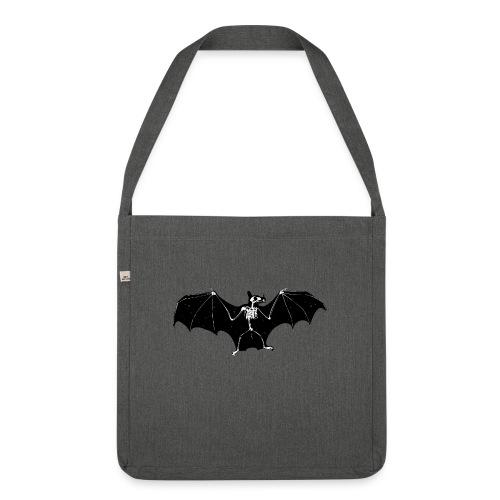 Bat skeleton #1 - Shoulder Bag made from recycled material