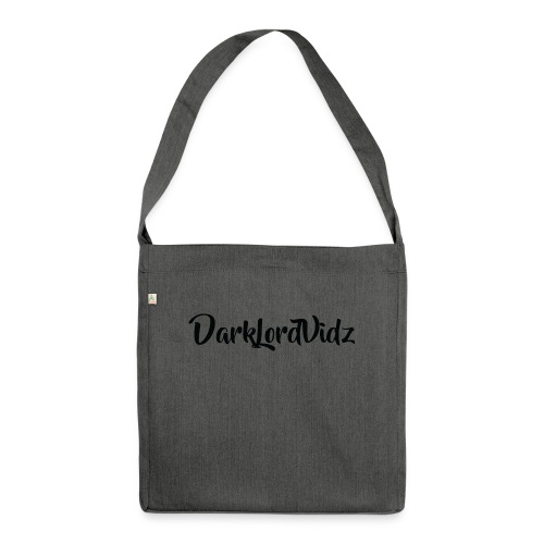 DarklordVidz Black Logo - Shoulder Bag made from recycled material