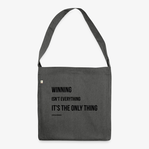 Football Victory Quotation - Shoulder Bag made from recycled material