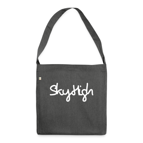 SkyHigh - Women's Hoodie - White Lettering - Shoulder Bag made from recycled material