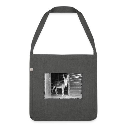 Zickenstube Esel - Schultertasche aus Recycling-Material