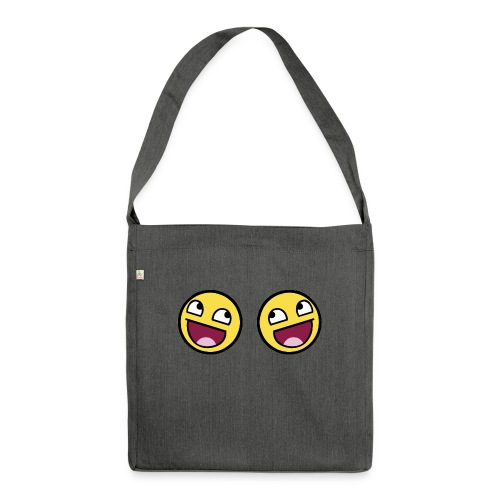 Boxers lolface 300 fixed gif - Shoulder Bag made from recycled material