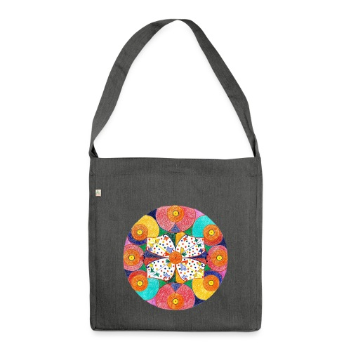 Abundance Mandala gif - Shoulder Bag made from recycled material