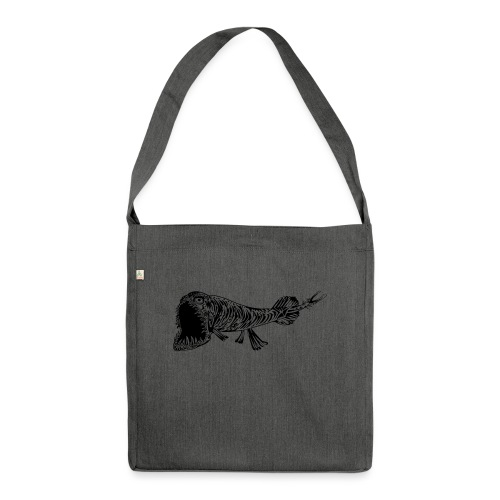 A fish called Grossmaul - Shoulder Bag made from recycled material