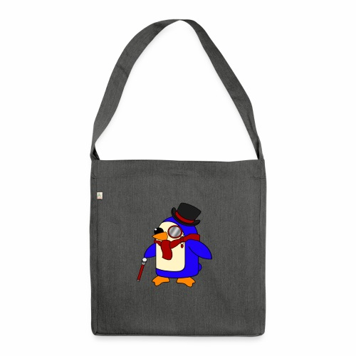 Cute Posh Crimson Red Penguin - Shoulder Bag made from recycled material