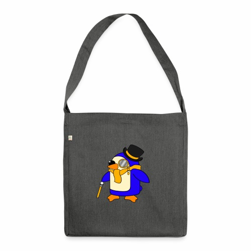 Cute Posh Sunny Yellow Penguin - Shoulder Bag made from recycled material
