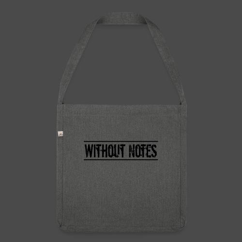 Without Notes Schriftzug Nummer 1 - Schultertasche aus Recycling-Material
