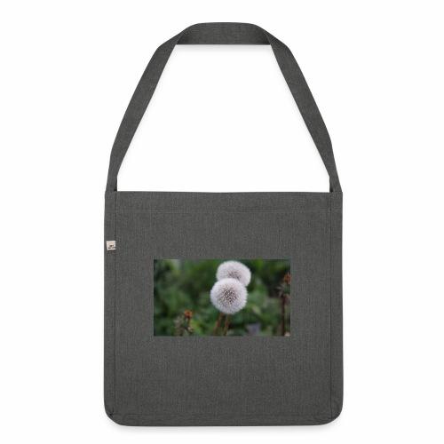 Schönes Blumenbild - Schultertasche aus Recycling-Material