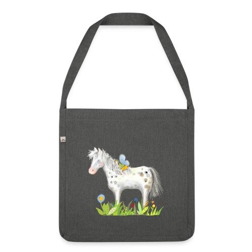 Fee. Das Pferd und die kleine Reiterin. - Schultertasche aus Recycling-Material