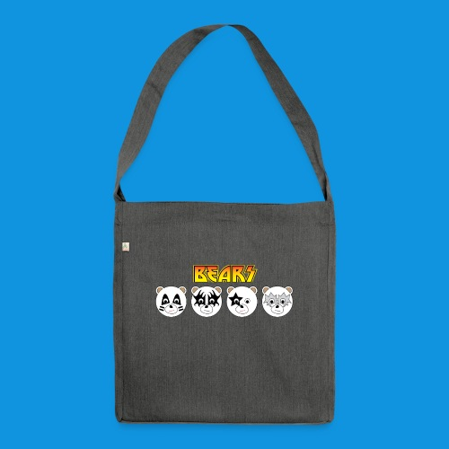Kiss Bears.png - Shoulder Bag made from recycled material