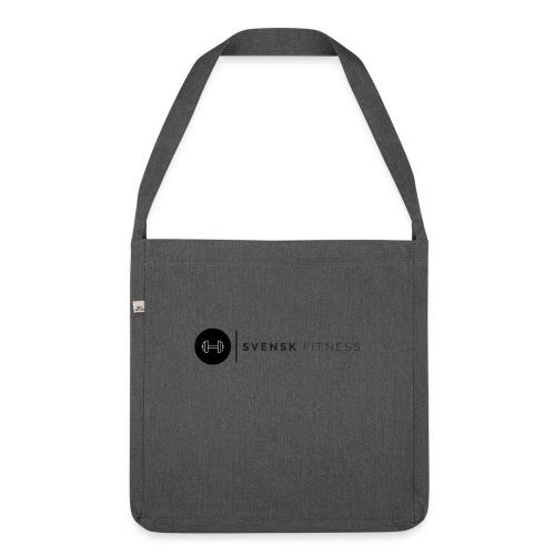 Linne med svart logotyp - Axelväska av återvinningsmaterial