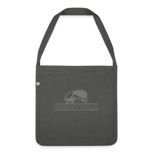 Logo grau - Schultertasche aus Recycling-Material