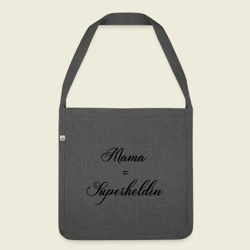 Mama Superheldin - Schultertasche aus Recycling-Material