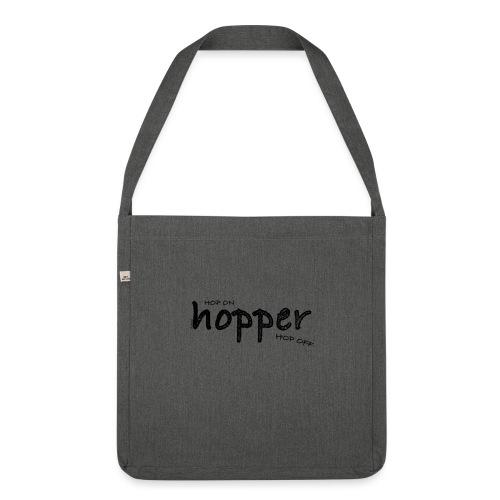 MuchoHop Hop On/Off (black) - Bandolera de material reciclado