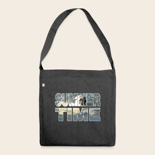 Mops Sommer - Schultertasche aus Recycling-Material