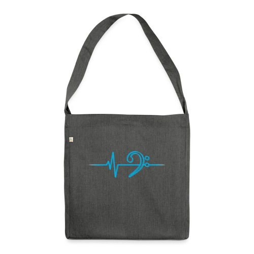 LowHeartBeatDouble cyan - Schultertasche aus Recycling-Material