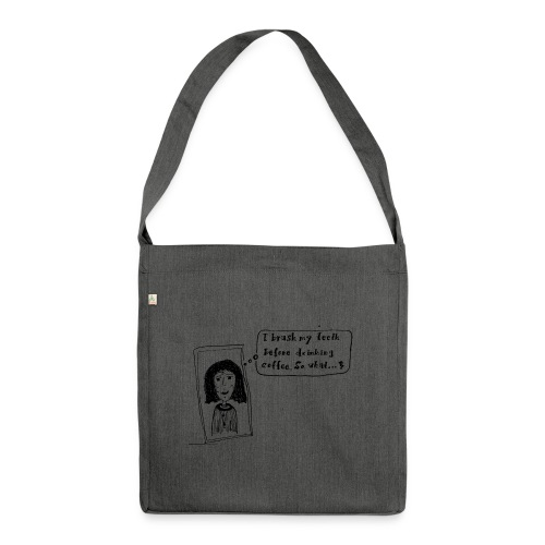 Coffee - Schultertasche aus Recycling-Material