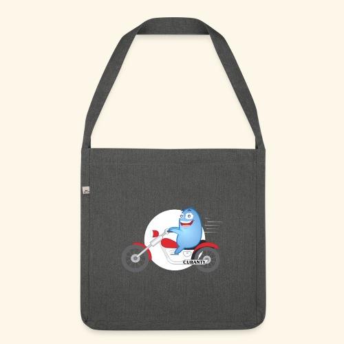 Cubanty mit Motorrad - Schultertasche aus Recycling-Material