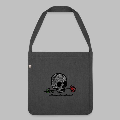 Love Is Dead Custom Skull Design - Schoudertas van gerecycled materiaal